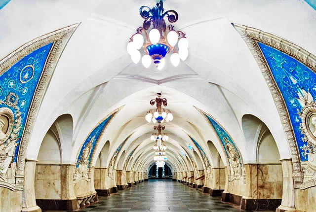 Taganskaya Metro St – Opened in 1950