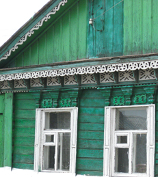 russian house, dacha, village house